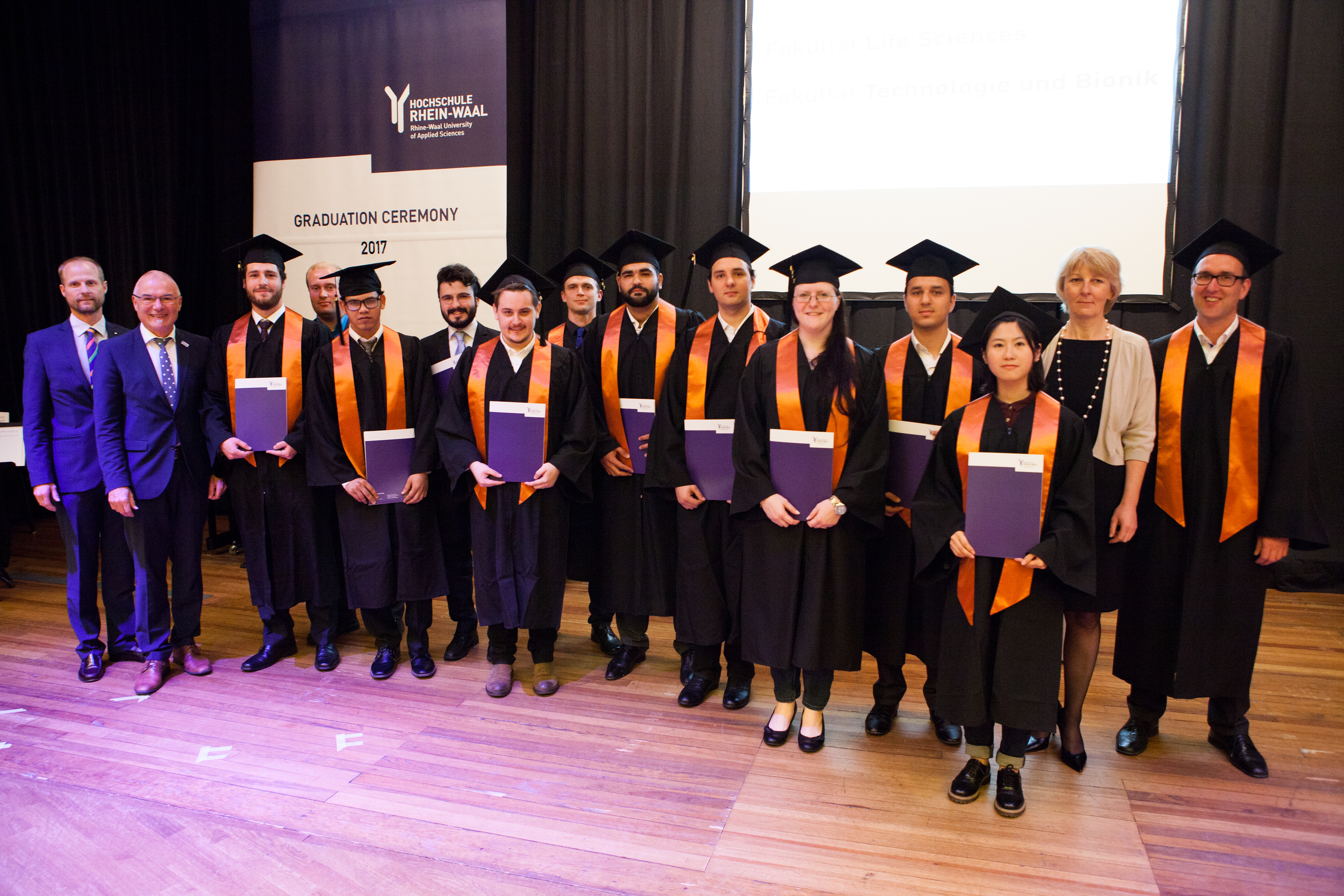 Graduation Ceremony Reception: Graduation Ceremony 2017 At Rhine-Waal University Of