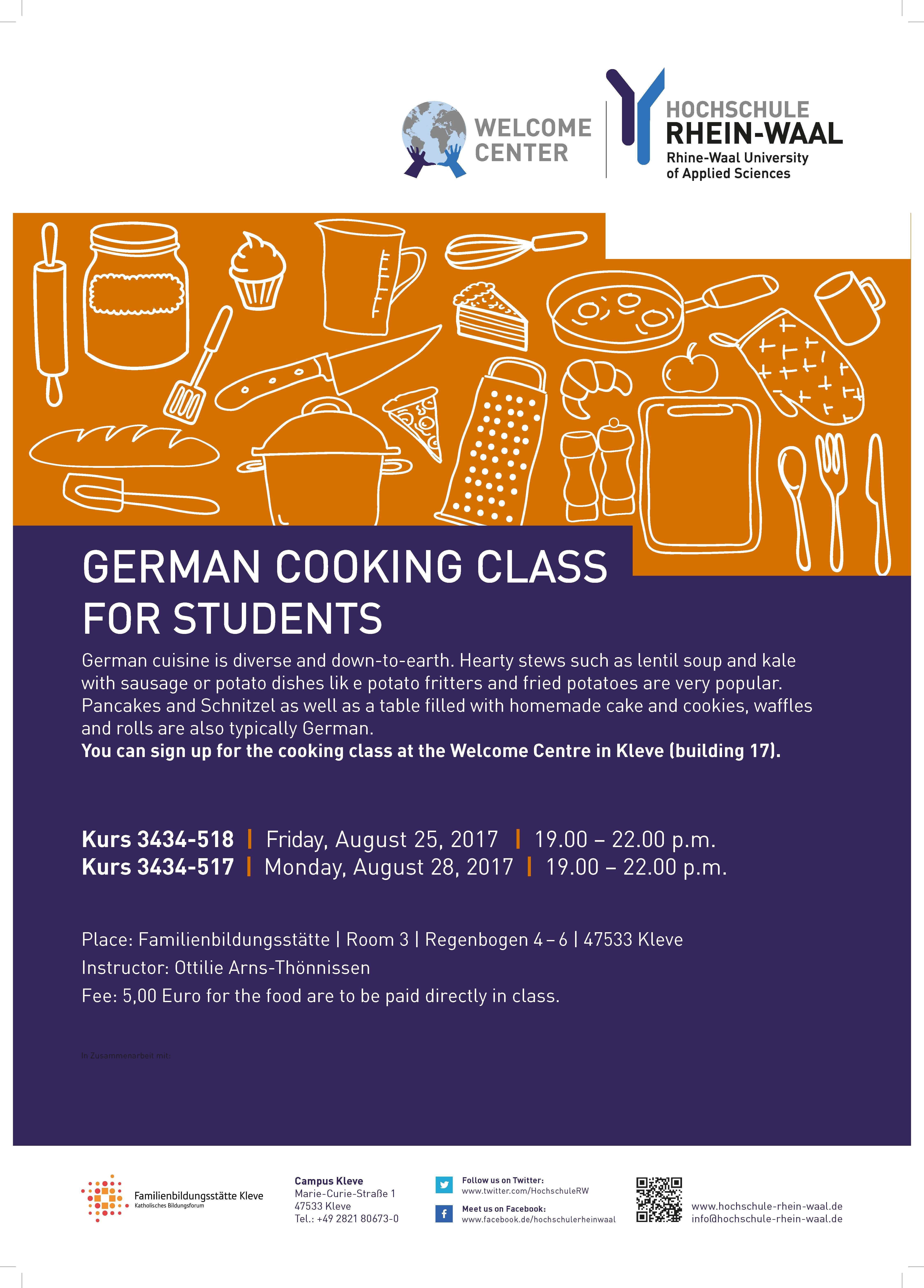 German Cooking Class Rhine Waal University Of Applied Sciences