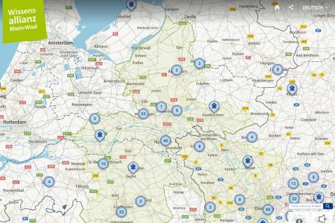 Screenshot Science Compass Rhein-Waal