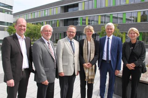 Landrat Dr. Ansgar Müller und Landrat Wolfgang Spreen zu Besuch auf dem Campus Kamp-Lintfort der Hochschule Rhein-Waal